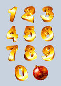 Photo Set of golden numbers