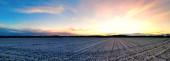 Winterlandschaft Sontheim Sonnenuntergang Panoramablick