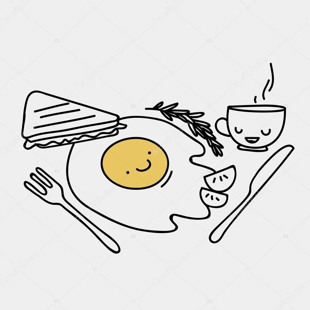 Завтрак рисунки карандашом