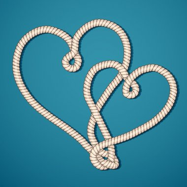 Two rope hearts