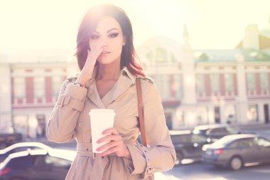 Early coffee.