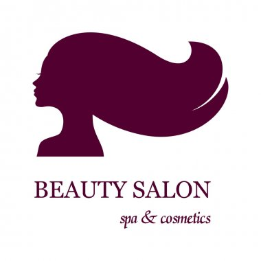Logo for beauty salon with female face silhouette