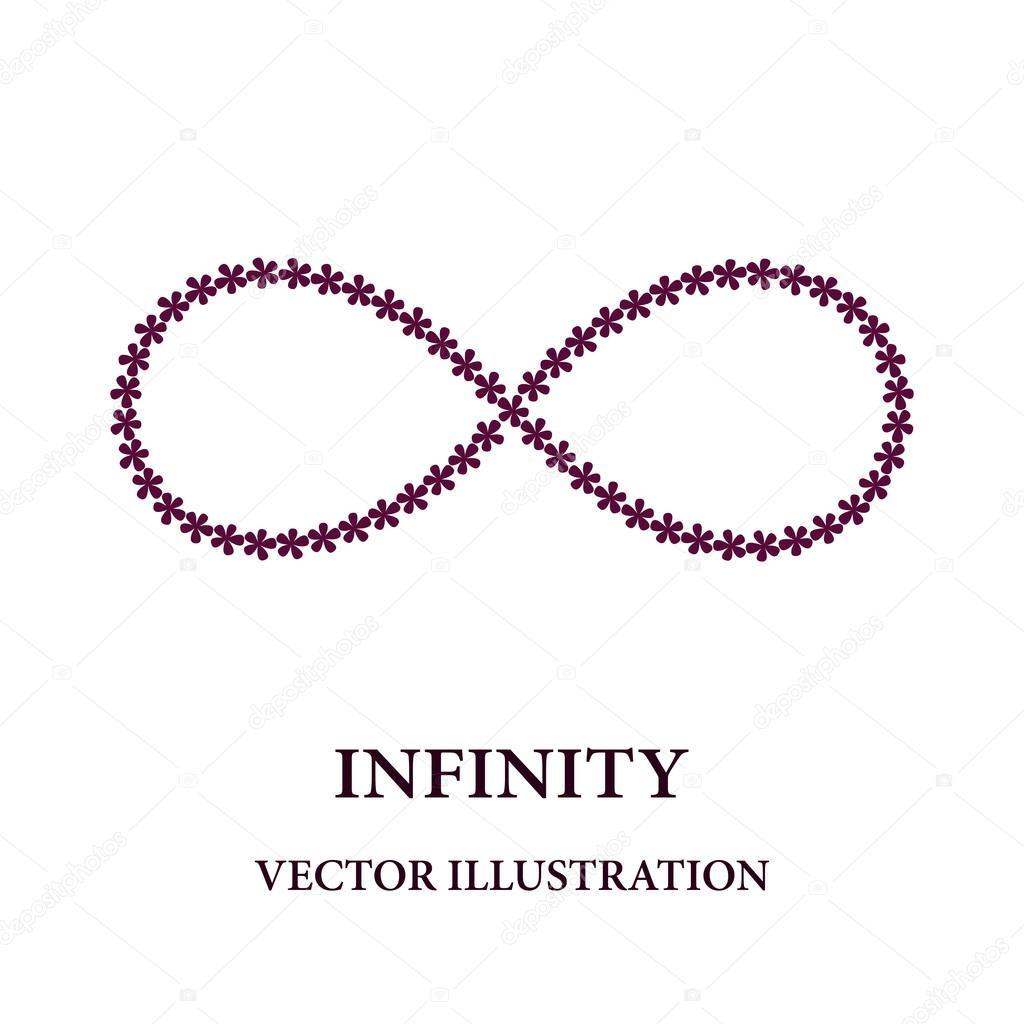 símbolo do infinito abstrato consistia de florzinhas vetor de
