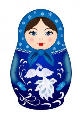 Matryoshka doll in winter style