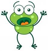 Žába velmi překvapen náladu