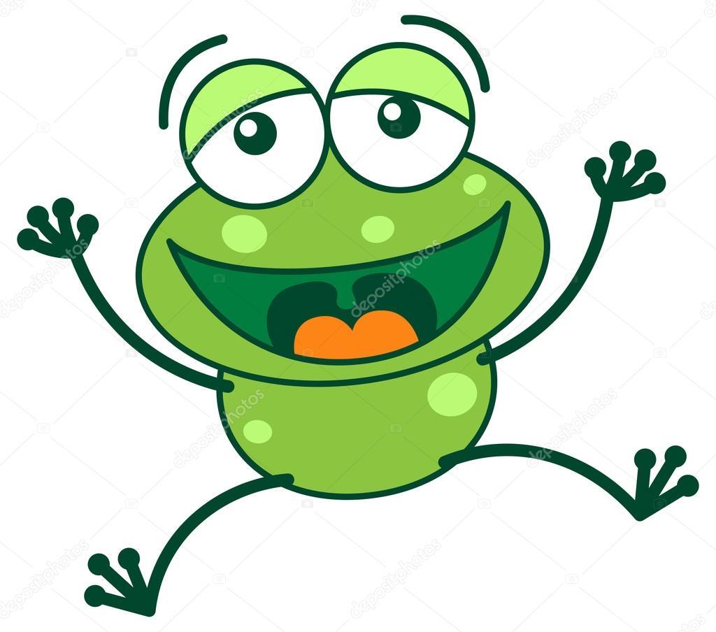 Grenouille verte en riant image vectorielle zoo co 61123317 - Dessin de grenouille verte ...