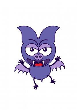 Purple bat  feeling angry
