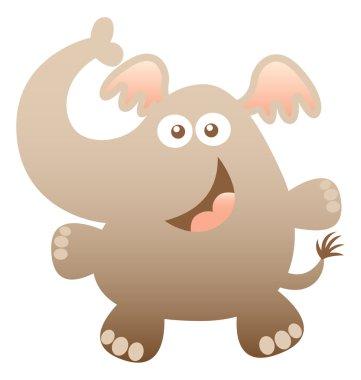 Cute friendly elephant with bulging eyes