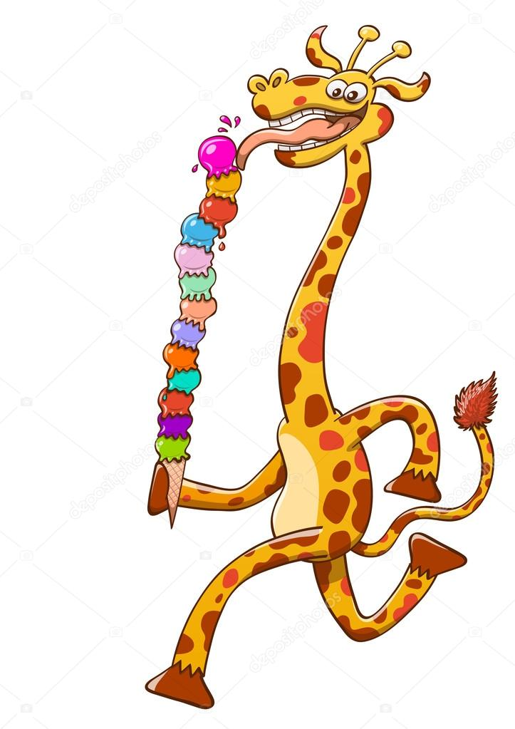 Cool giraffe with long neck