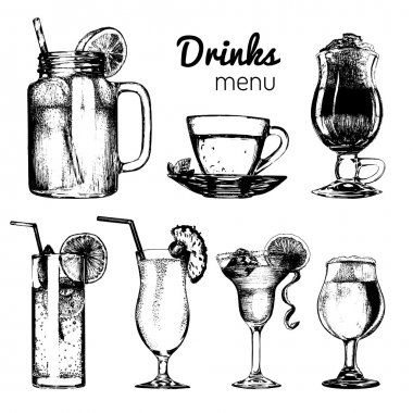 Drinks menu set