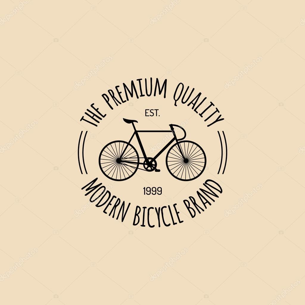 Logo Di Biciclette Depoca Hipster Vettoriali Stock Vladayoung