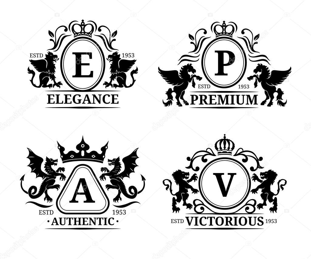luxury monograms set stock vector vladayoung 102079942