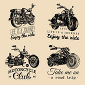 Fotografia Choppers and motorcycles logos set