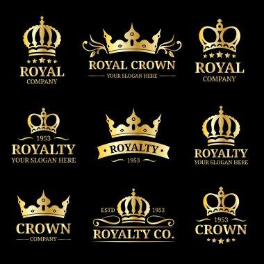 Crowns vintage monograms set