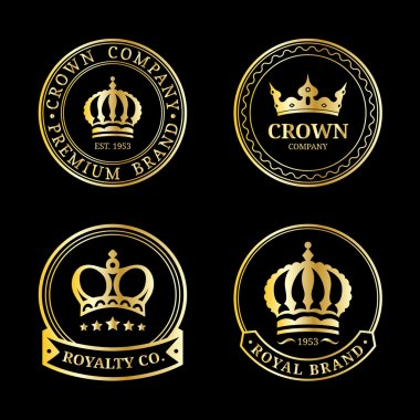 Luxury crowns monograms design
