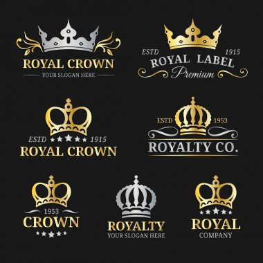 Luxury crowns monograms design