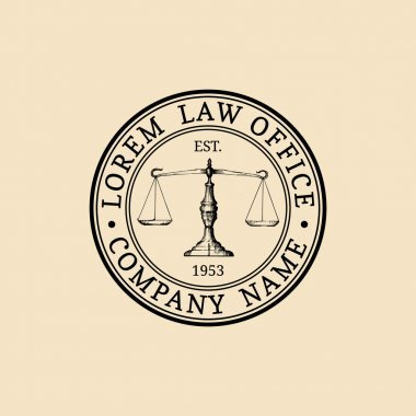 vintage lawyer logo