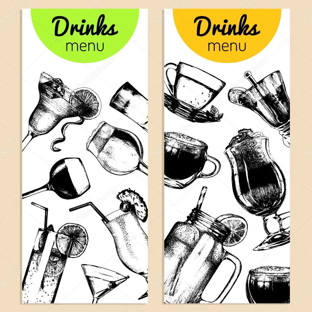 soft drinks menu stock vector vladayoung 102080546