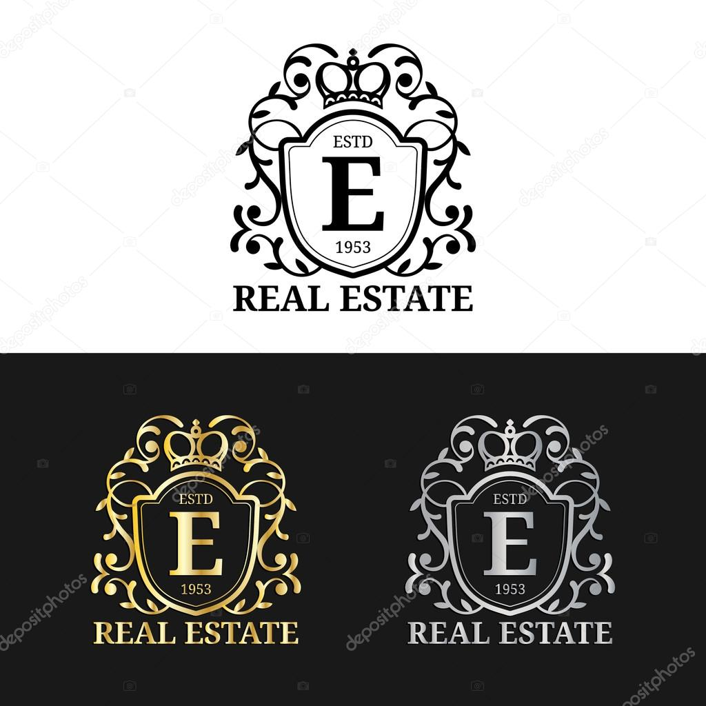 Real Estate Monograms Logos Stock Vector C Vladayoung 102085754