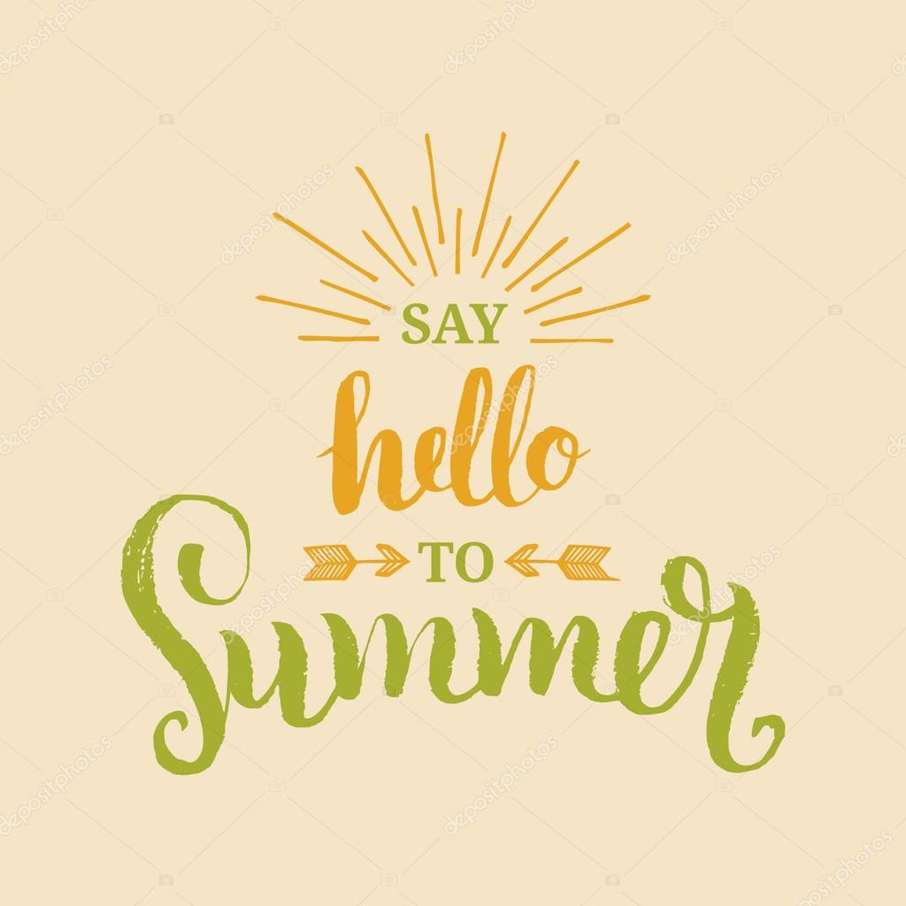 Hello to Summer poster