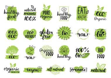 Eco organic bio logos.