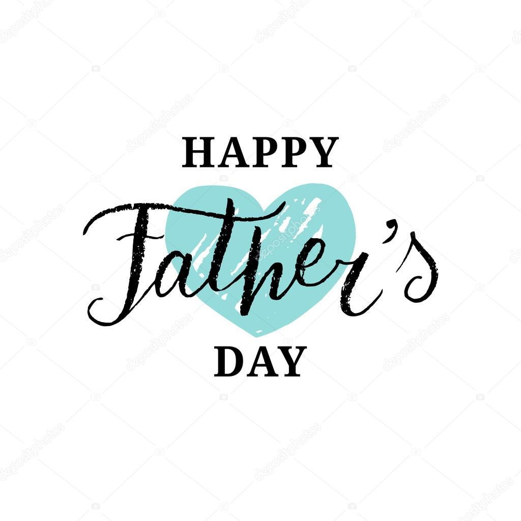 happy fathers day card stock vector