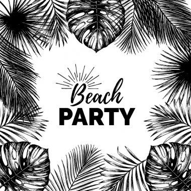 beach party poster.