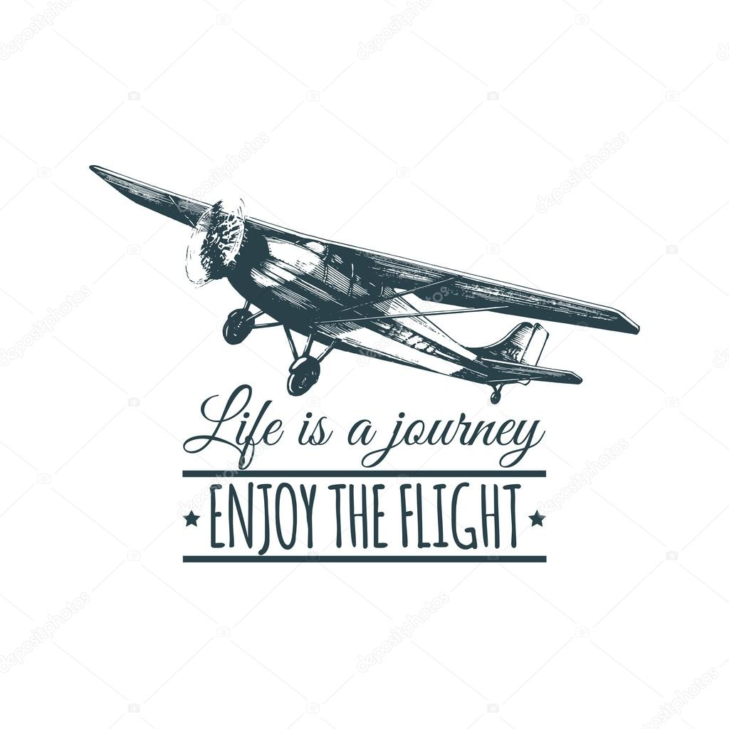 Travel Logo With Vintage Airplane Stock Vector C Vladayoung 121781162