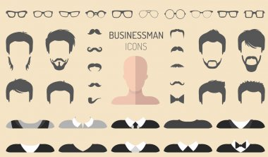 set of dress up constructor with different businessmen