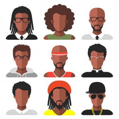 set of different african american men