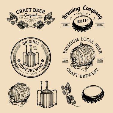 Set of vintage brewery logo