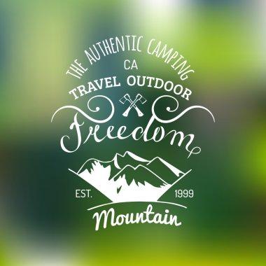 Retro logotype of outdoor adventures