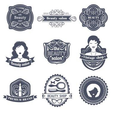 Set of woman logo of beauty salon