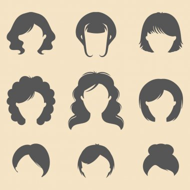 set of different women fancy haircuts