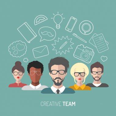 illustration of creative team management