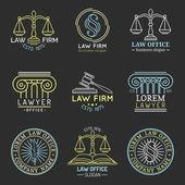 Právní kancelář logo sada