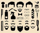 Fotografie Hipster and  barbershop elements