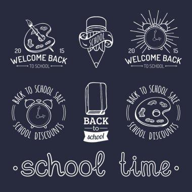 Vintage Back to school logo.