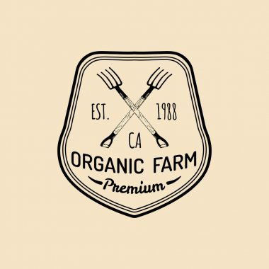 retro farm fresh logotype.