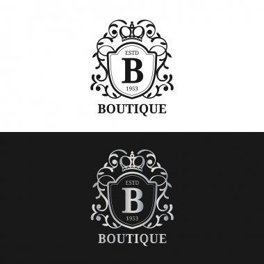 Monogram logo template.