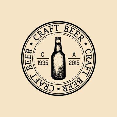 vintage brewery beer logo.