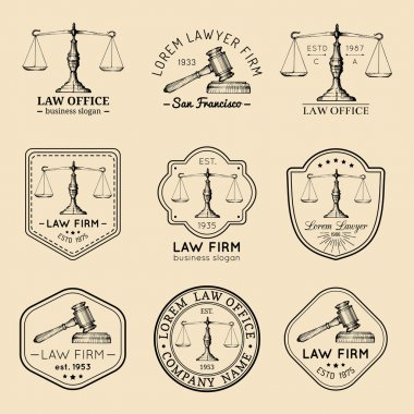Law firm, office logo set.