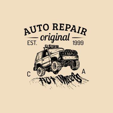 Car repair logo.