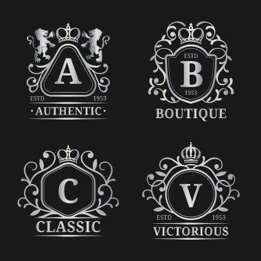 Monogram logo templates.