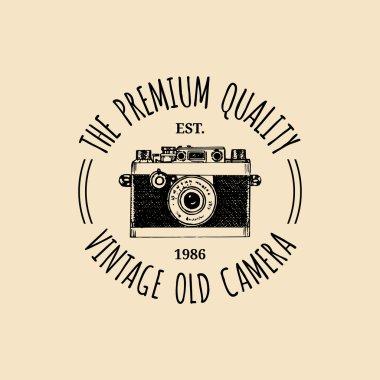 Photography logo.   vintage camera