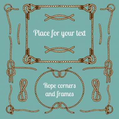vintage ropes corners and frames
