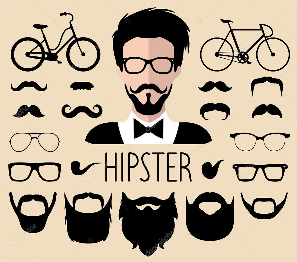 7d2da0970ad Big vector set of dress up constructor with different men hipster — Vector  by vladayoung
