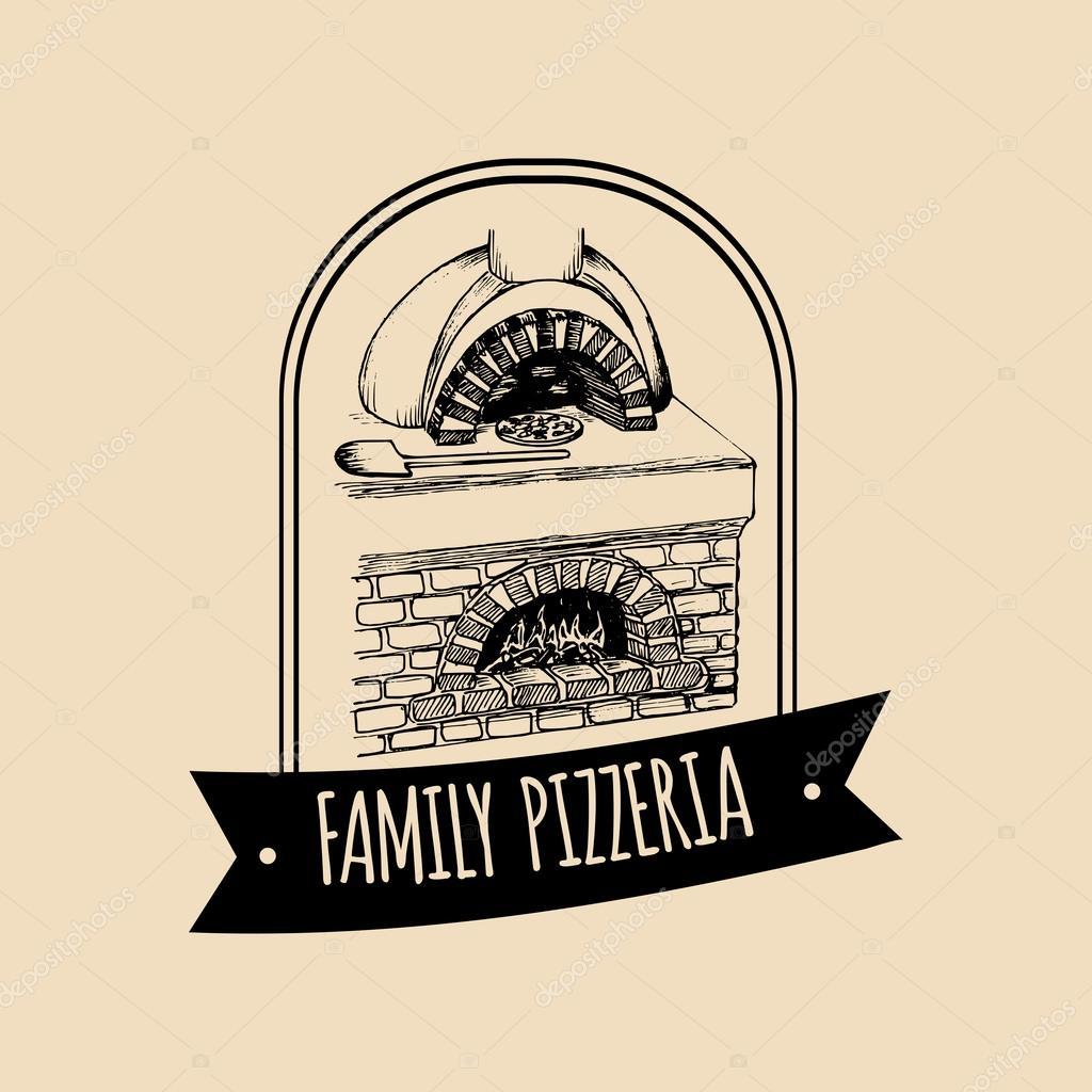 logo de la cuisine italienne vintage hipster image vectorielle vladayoung 87207732. Black Bedroom Furniture Sets. Home Design Ideas