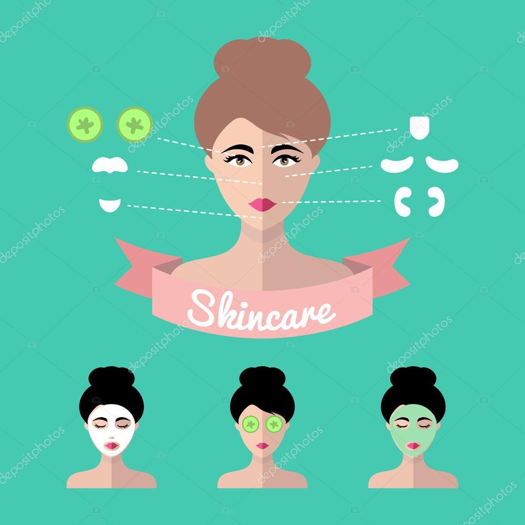 Infographics set of women icons
