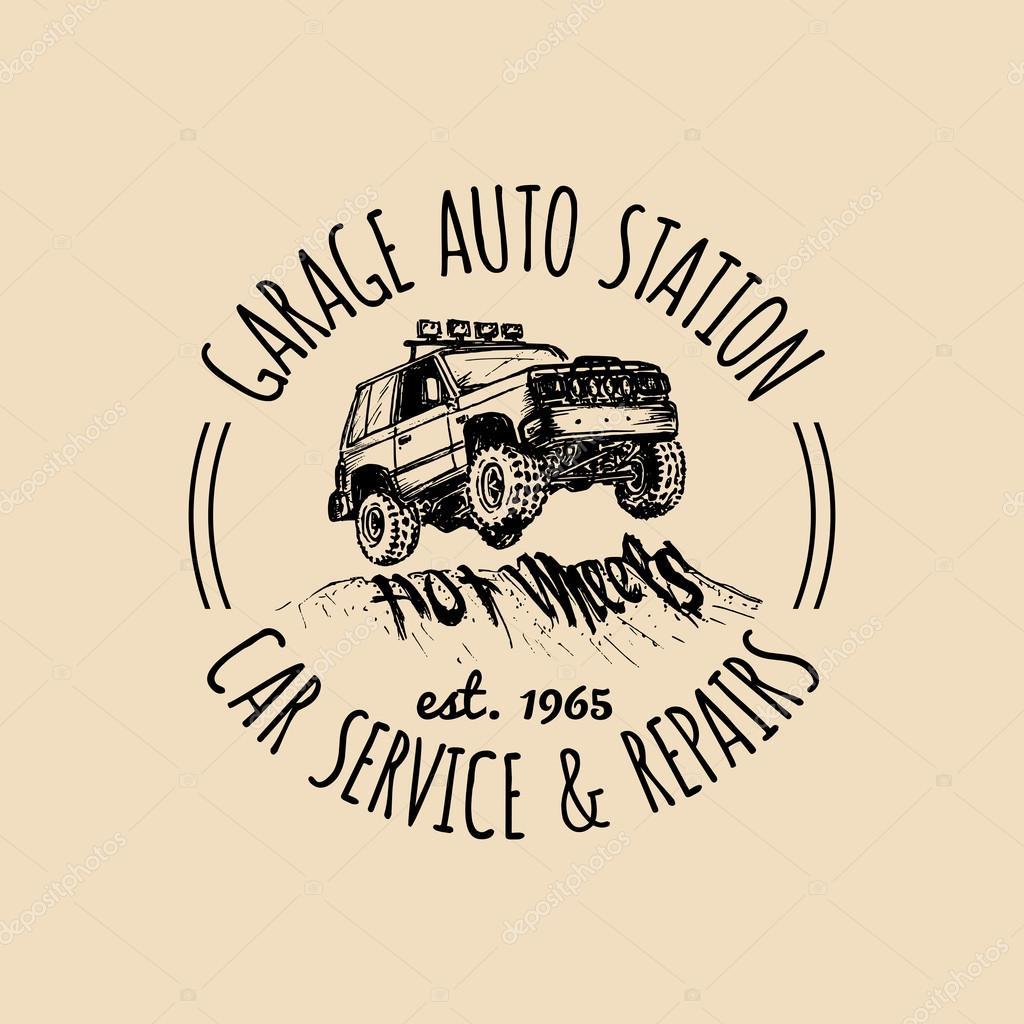 Marchio Dell'automobile. Logo Di Garage